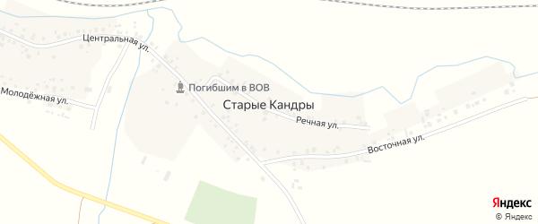 Восточная улица на карте села Старые Кандры с номерами домов