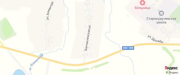 Балчиклинская улица на карте села Старокуручево с номерами домов