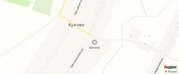 Центральная улица на карте деревни Кузгово с номерами домов