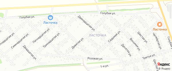 Девятая улица на карте района Ласточки с номерами домов