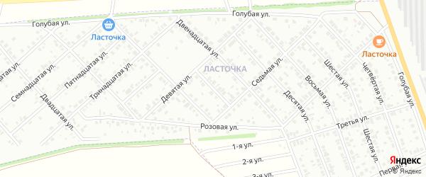 Четырнадцатая улица на карте района Ласточки с номерами домов