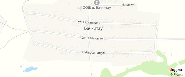Центральная улица на карте деревни Бачкитау с номерами домов
