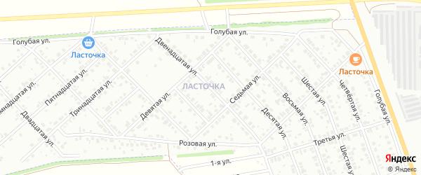 Двенадцатая улица на карте района Ласточки с номерами домов