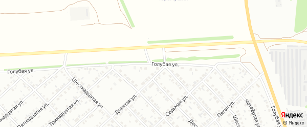 Голубая улица на карте района Ласточки с номерами домов