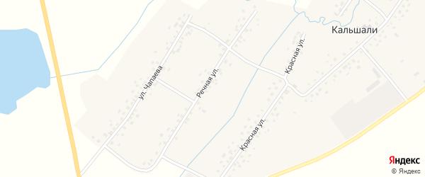 Речная улица на карте села Кальшали с номерами домов