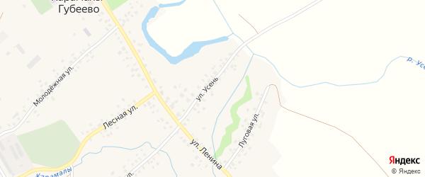 Улица Усень на карте села Карамалы-Губеево с номерами домов