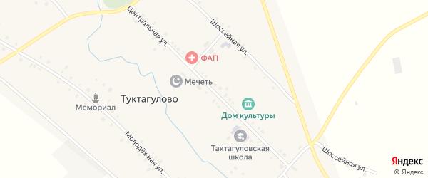Центральная улица на карте села Туктагулово с номерами домов