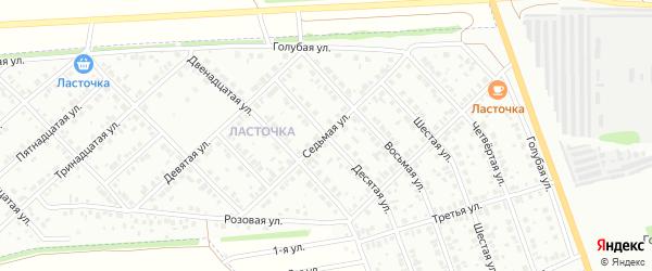 Седьмая улица на карте района Ласточки с номерами домов