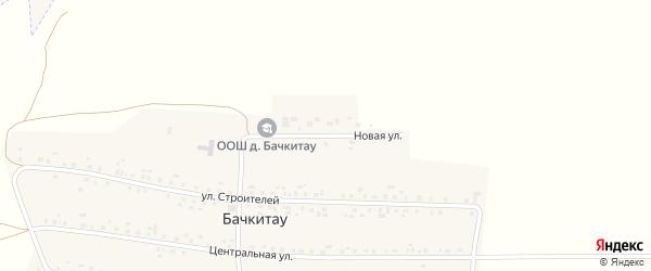 Новая улица на карте деревни Бачкитау с номерами домов