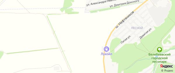 СНТ Березка на карте Белебеевского района с номерами домов