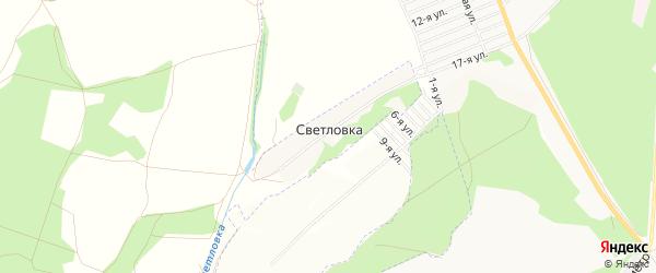 Карта деревни Светловки в Башкортостане с улицами и номерами домов