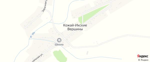 Переулочная улица на карте села Кожай-Икские Вершины с номерами домов