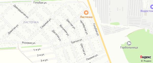 Шестая улица на карте Микрорайона Надежды с номерами домов