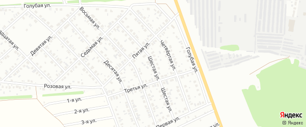 Шестая улица на карте района Ласточки с номерами домов