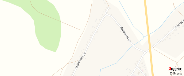 Заречная улица на карте деревни Илькино с номерами домов