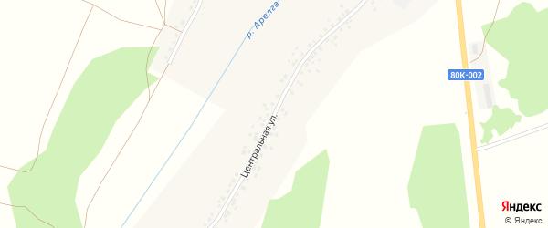 Центральная улица на карте деревни Илькино с номерами домов