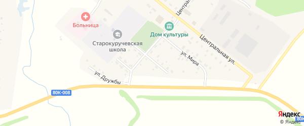 Спортивная улица на карте села Старокуручево с номерами домов