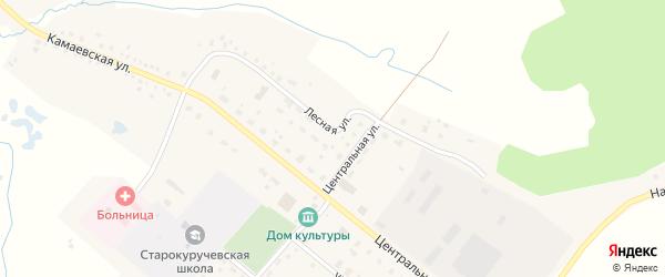 Лесная улица на карте села Старокуручево с номерами домов