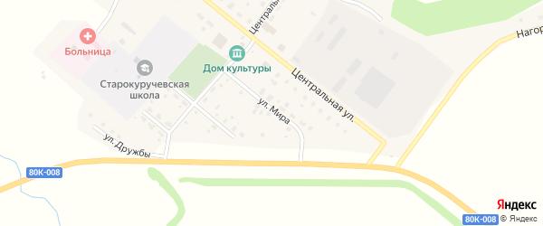 Улица Мира на карте села Старокуручево с номерами домов