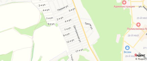СТ Машиностроитель 1 на карте Белебея с номерами домов
