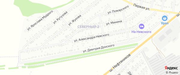 Улица Невского на карте района Северного микрорайона с номерами домов