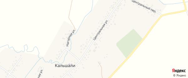Центральная улица на карте села Кальшали с номерами домов