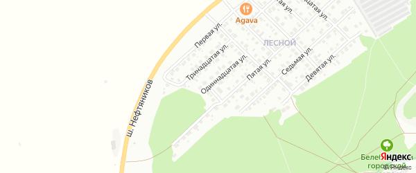 Вторая улица на карте Лесной района с номерами домов