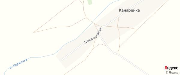 Центральная улица на карте деревни Канарейки с номерами домов