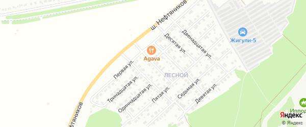 Шестая улица на карте района Северного микрорайона с номерами домов