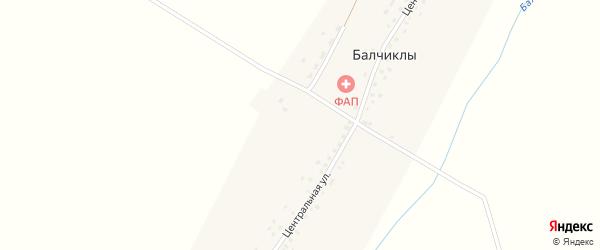 Молодежная улица на карте деревни Балчиклы с номерами домов