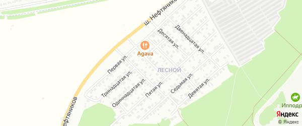 Шестая улица на карте Лесной района с номерами домов