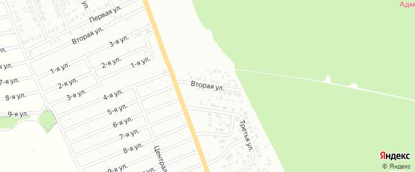 Вторая улица на карте района Полянки микрорайона с номерами домов