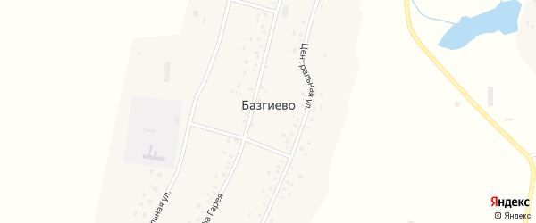 Улица Юсуфа Гарея на карте села Базгиево с номерами домов