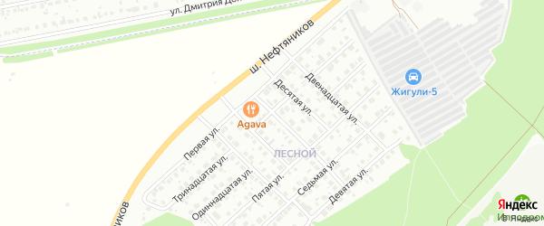 Третья улица на карте Лесной района с номерами домов