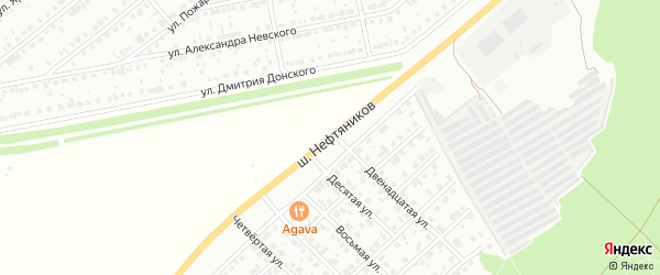 Улица Шоссе Нефтяников на карте Белебея с номерами домов