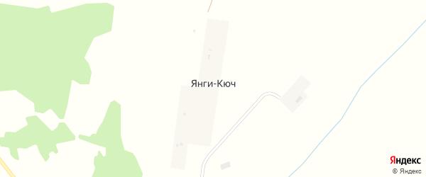 Подгорная улица на карте деревни Янги-Кюча с номерами домов