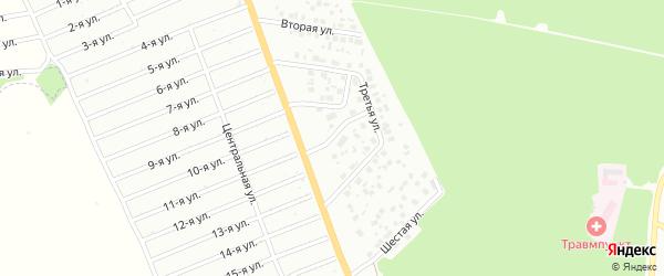Четвертая улица на карте района Полянки микрорайона с номерами домов