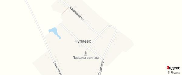 Центральная улица на карте села Чупаево с номерами домов