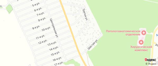 Третья улица на карте района Полянки микрорайона с номерами домов
