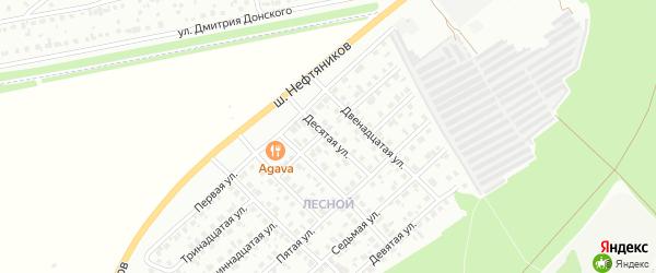 Десятая улица на карте Лесной района с номерами домов