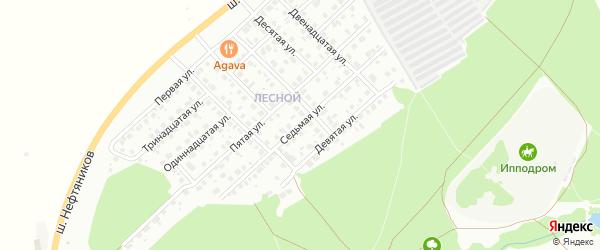 Седьмая улица на карте района Северного микрорайона с номерами домов