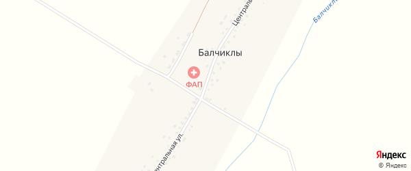 Центральная улица на карте деревни Балчиклы с номерами домов