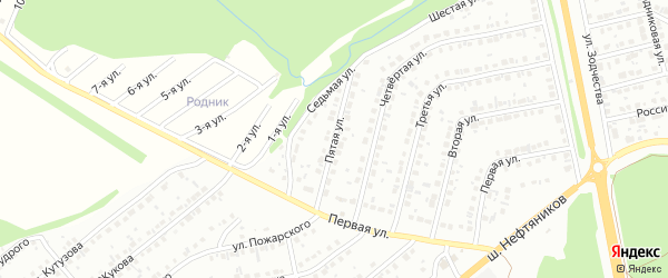 Пятая улица на карте района Северного микрорайона с номерами домов