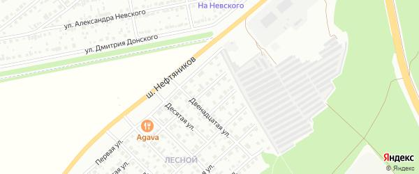 Семнадцатая улица на карте района Чайковки микрорайона с номерами домов
