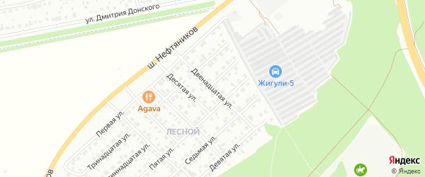 Двенадцатая улица на карте Лесной района с номерами домов