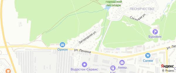 Загородная улица на карте Белебея с номерами домов