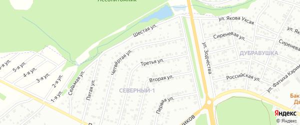 Третья улица на карте района Северного микрорайона с номерами домов