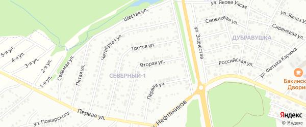 Вторая улица на карте района Северного микрорайона с номерами домов