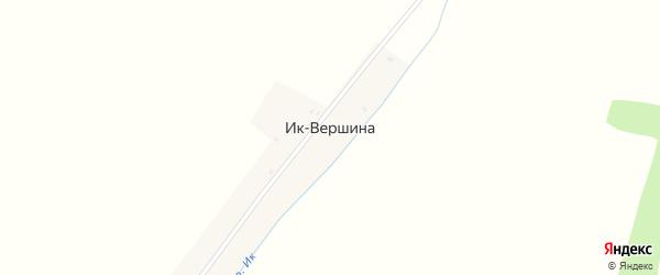 Лесная улица на карте деревни Ика-Вершины с номерами домов