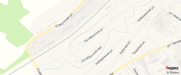 Октябрьская улица на карте села Кандры с номерами домов